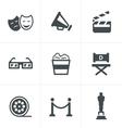 Movie Icons design vector image