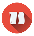 Two glasses icon vector image