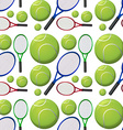 Seamless background with tennis rackets and balls vector image