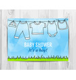 baby boy shower invitation card vector image