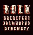 decorative sanserif font in hard rock style vector image