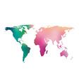 gradient world map vector image