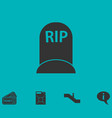 grave icon flat vector image