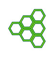 Honeycomb sign lemon scribble icon on vector image