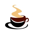 Hot steaming cup of coffee vector image