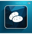 icon potato isolated vegetarian chips meal ripe vector image
