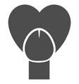 sex penis heart flat icon vector image