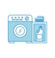wash machine with detergent bottle vector image