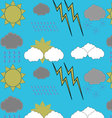 Weather pattern seamless vector image