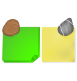 Note paper and a stone vector image vector image