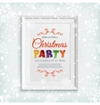 Christmas party poster template in picure frame vector image