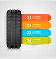 black rubber tire colorful infographics vector image vector image