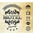 Retro styled motel background vector image vector image