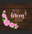 mothers day greeting card with abstract roses vector image vector image
