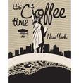 coffee new york vector image vector image