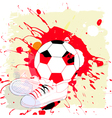 soccer abstract vector image vector image