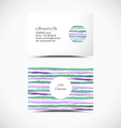 Art business cards vector image
