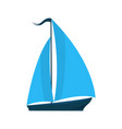 a ship with sails logo for water sports tourist vector image