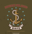 Anchor with rope and hope Design elements T-shirt vector image