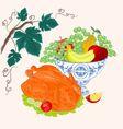 Celebratory Food thanksgiving christmas celebratio vector image