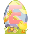 Cute initial letter E vector image