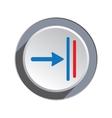 Deadline move icon Direction cursor arrow to vector image