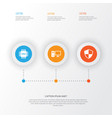 Digital icons set collection of defense personal vector image