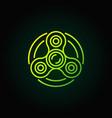 fidget spinner green icon vector image