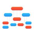 flowchart template modern design vector image
