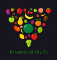 pyramid of fruits vector image
