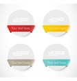 Set of rounded banners with ribbons vector image