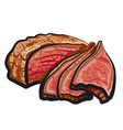 roast beef vector image vector image