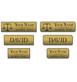 engraved metal name badges vector image