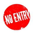 No Entry rubber stamp vector image
