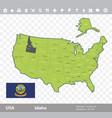 idaho flag and map vector image