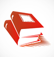books abstract logo vector image