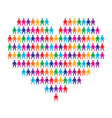 heart with people background vector image vector image