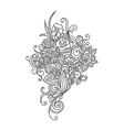 Zentangle floral pattern vector image