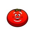 Cute fat juicy cartoon tomato vegetable vector image