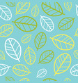 green leaves seamless pattern springtime vector image