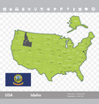 idaho flag and map vector image