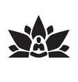 lotus yoga aura black vector image