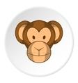 Monkey face icon cartoon style vector image