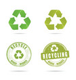 recycling icon in green color set vector image