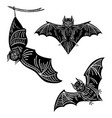 set of bats a collection of terrible bats for vector image