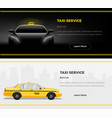 taxi service web banners vector image