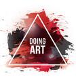 watercolor-art-doing-red vector image