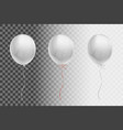 white flying balloon on a transparent background vector image