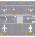 Airport layout vector image vector image
