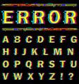 alphabet on black background vector image